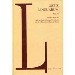 ORBIS LINGUARUM VOL 45