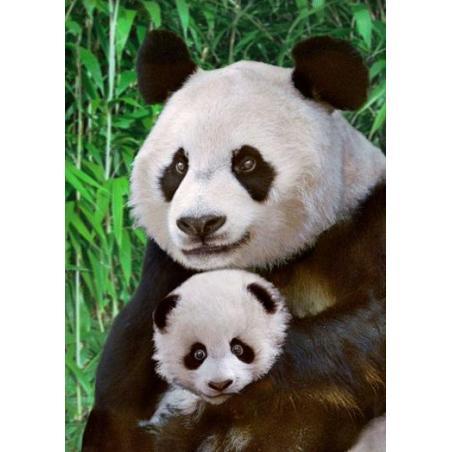 KARTKA POCZTOWA 3D GIANT PANDA