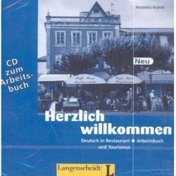 HERZLICH WILKOMMEN DEUTSCH IN RESTAURNT LEHRBUCH UND TOURISMUS 2 CD