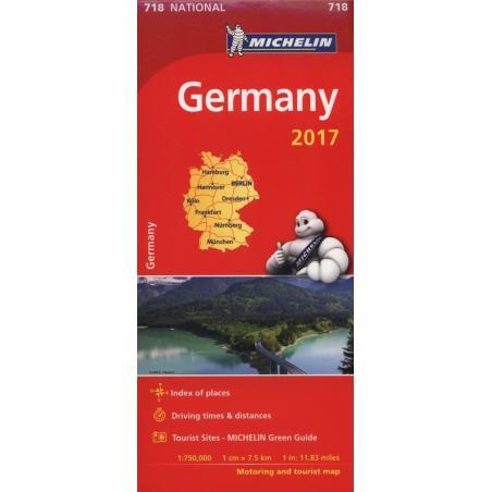 GERMANY 2017 MAPA SAMOCHODOWA