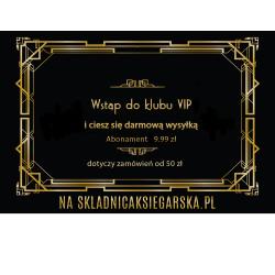ABONAMENT VIP PAŹDZIERNIK DARMOWA DOSTAWA OD 50 ZŁ