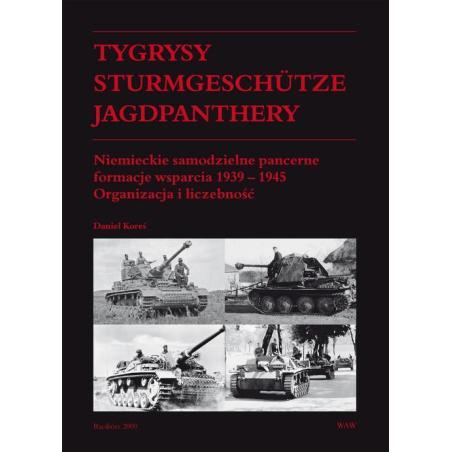 TYGRYSY STURMGESCHUTZE JAGDPANTHERY NIEMIECKIE SAMODZIELNE FORMACJE WSPARCIA 1939-1945. ORGANIZACJA I LICZEBNOŚĆ