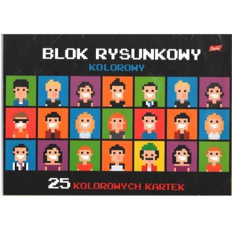 BLOK RYSUNKOWY KOLOROWY A3 25 KARTEK