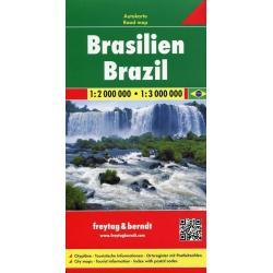 BRAZYLIA MAPA SAMOCHODOWA 1:2 000 00