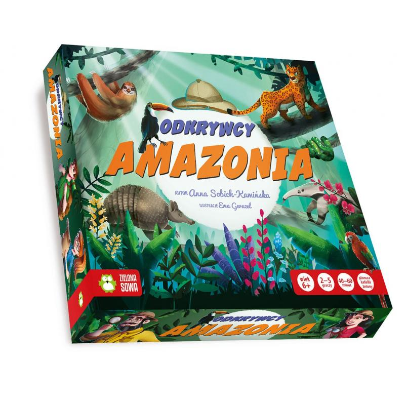 ODKRYWCY AMAZONIA GRA PLANSZOWA 6+