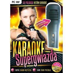 KARAOKE SUPERGWIAZDA Z MIKROFONEM PC DVD