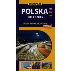 POLSKA 2014/2015 MAPA SAMOCHODOWA 1 : 670 000