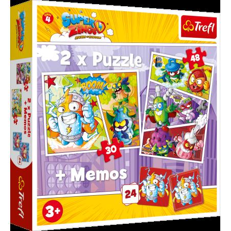EKIPA SUPER ZINGS 2 X PUZZLE + KARTY MEMO 3+