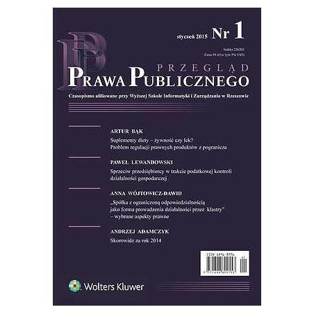 PRZEGLĄD PRAWA PUBICZNEGO 01/2008
