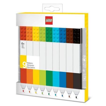 LEGO KOLOROWE FLAMASTRY 9 KOLORÓW