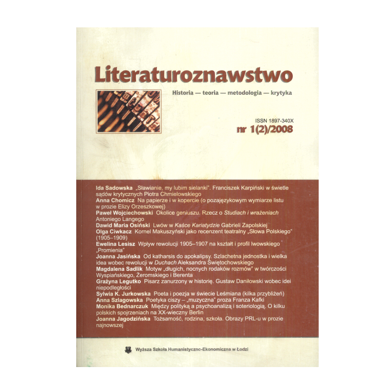 LITERATUROZNAWSTWO