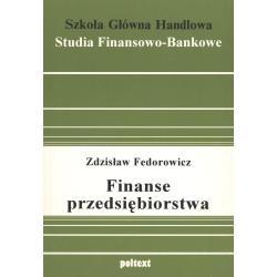 FINANSE PRZEDSIĘBIORSTWA Zdzisław Fedorowicz