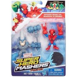 SUPER HERO MASHERS MICRO SPIDER-MAN KONTRA MARVEL'S RHINO 2 FIGURKI 4+