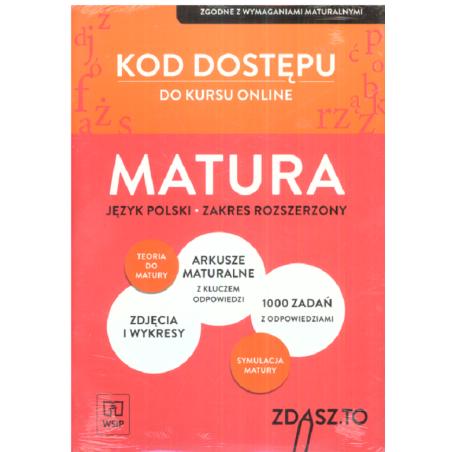 KOD DOSTĘPU DO KURSU ONLINE MATURA  JĘZYK POLSKI ZAKRES ROZSZERZONY
