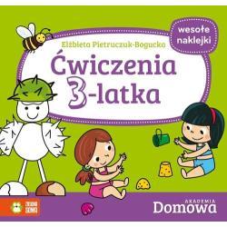 ĆWICZENIA 3-LATKA AKADEMIA DOMOWA + NAKLEJKI Pietruczuk-Bogucka Elżbieta