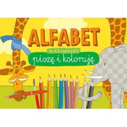 ALFABET DZIKIE ZWIERZĘTA BLOK KREATYWNY PISZĘ I KOLORUJĘ