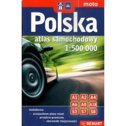 POLSKA ATLAS SAMOCHODOWY 1:500 000 MOTO