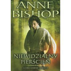 NIEWIDZIALNY PIERŚCIEŃ CZARNE KAMIENIE Bishop Anne