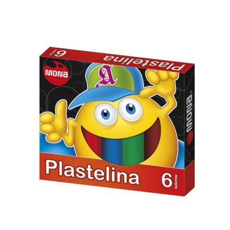 BEZPIECZNA PLASTELINA 6 KOLORÓW 3+