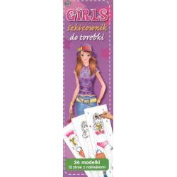 GIRLS SZKICOWNIK DO TOREBKI KOLOROWANKA Z NAKLEJKAMI