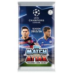 UEFA MATCH ATTAX SASZETKA Z KARTAMI PIŁKARZY 6SZT.
