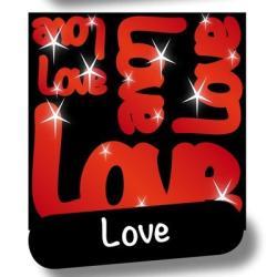 NAKLEJKI ODBLASKOWE LOVE
