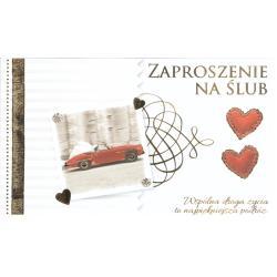ZAPROSZENIA ŚLUBNE + KOPERTA KUKARTKA