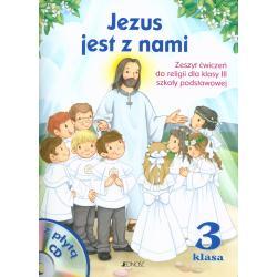 JEZUS JEST Z NAMI 3 SZKOŁY PODSTAWOWEJ ZESZYT ĆWICZEŃ + CD Jerzy Snopek