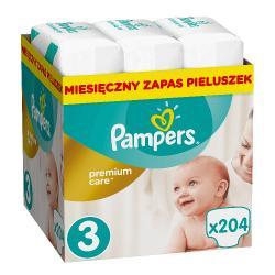 PAMPERS ACTIVE BABY DRY ROZMIAR 3 5-9 KG MIDI 208 PIELUSZEK