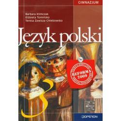JĘZYK POLSKI 3. PODRĘCZNIK Barbara Klimczak