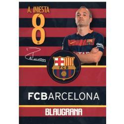 ZESZYT A5/16 KARTEK W POTRÓJNĄ LINIĘ FC BARCELONA BARCA FAN 4