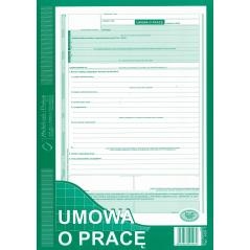 UMOWA O PRACĘ A4 TYP:500-1