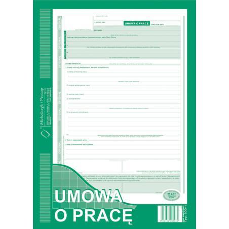 UMOWA O PRACĘ A4 TYP:500-1N NOWA