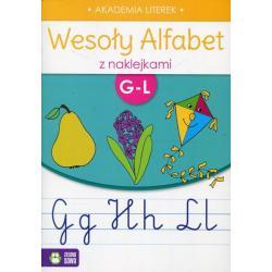 WESOŁY ALFABET Z NAKLEJKAMI G-L
