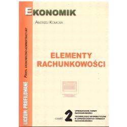 ELEMENTY RACHUNKOWOŚCI 2 Andrzej Komosa