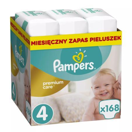 PAMPERS PREMIUM CARE ROZMIAR 4 8–14 KG 168 PIELUSZEK