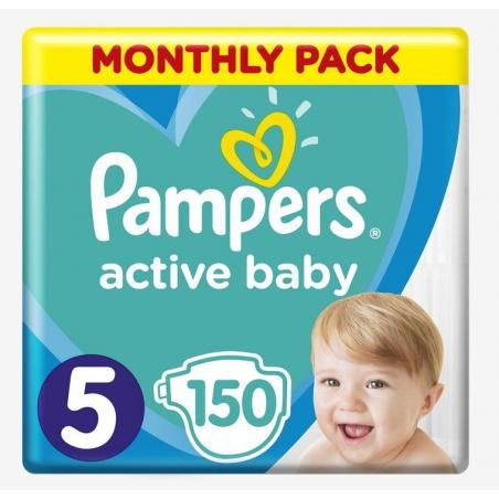 PIELUCHY PAMPERS ACTIVE BABY 5 MEGA BOX 150 SZT 11-16KG+