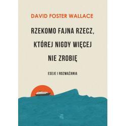 RZEKOMO FAJNA RZECZ KTÓREJ NIGDY WIĘCEJ NIE ZROBIĘ ESEJE I ROZWAŻANIA Foster Wallace David
