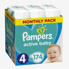 PIELUCHY PAMPERS ACTIVE BABY 4 MAXI 174SZT. 9-14 KG