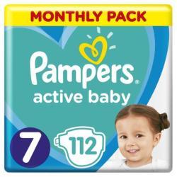 PIELUSZKI PAMPERS ACTIVE BABY 7 - 112 szt 15KG+