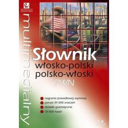 MULTIMEDIALNY SŁOWNIK WŁOSKO-POLSKI POLSKO WŁOSKI PWN CD-ROM