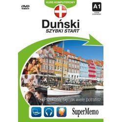 DUŃSKI SZYBKI START KURS KOMPUTEROWY A1 POZIOM PODSTAWOWY CD-MP3 + DVD-ROM
