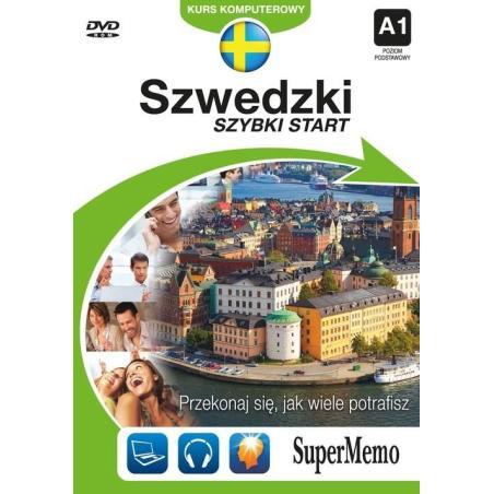 SZWEDZKI SZYBKI START KURS KOMPUTEROWY A1 POZIOM PODSTAWOWY  DVD-ROM