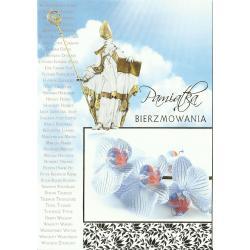 KARNET PAMIĄTKA BIERZMOWANIA + KOPERTA